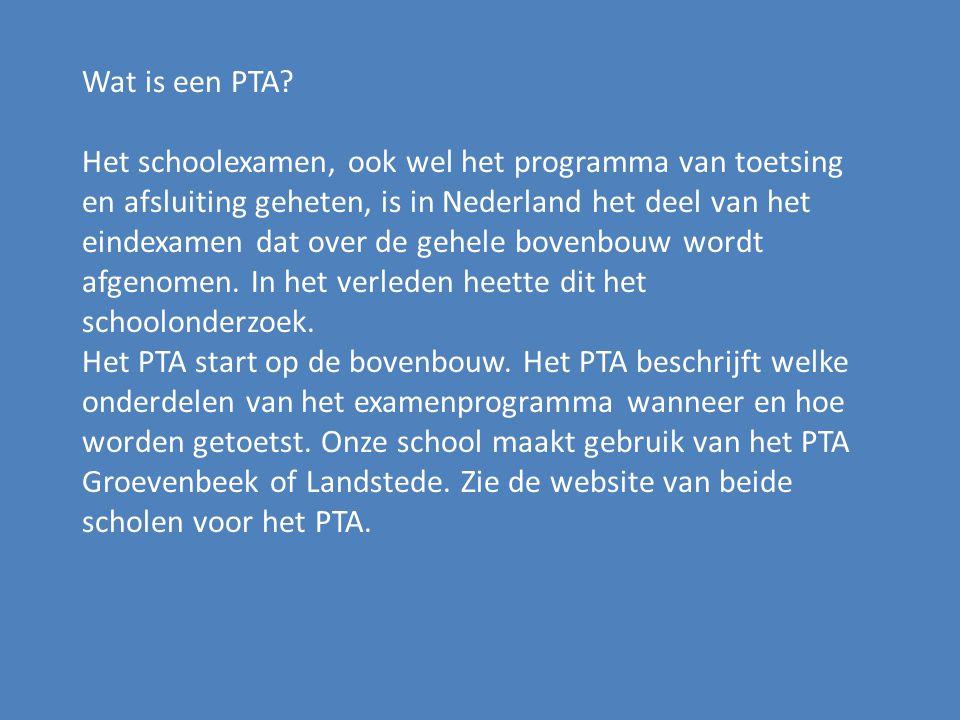 Wat is een PTA.