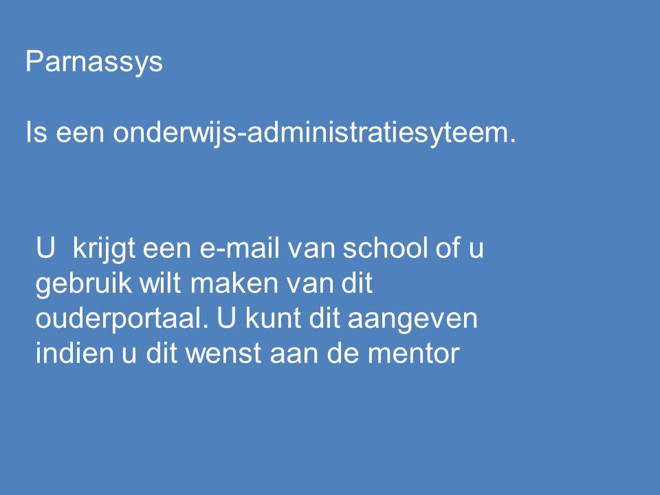 Parnassys Is een onderwijs-administratiesyteem.