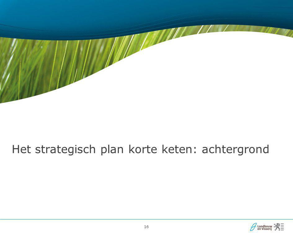 Het strategisch plan korte keten: achtergrond