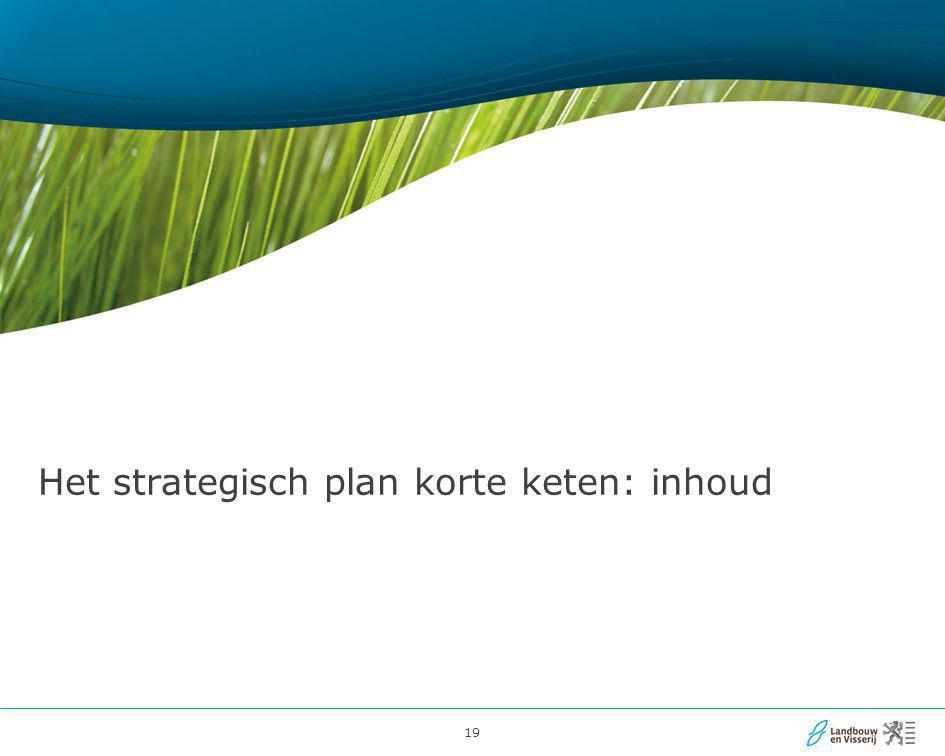 Het strategisch plan korte keten: inhoud