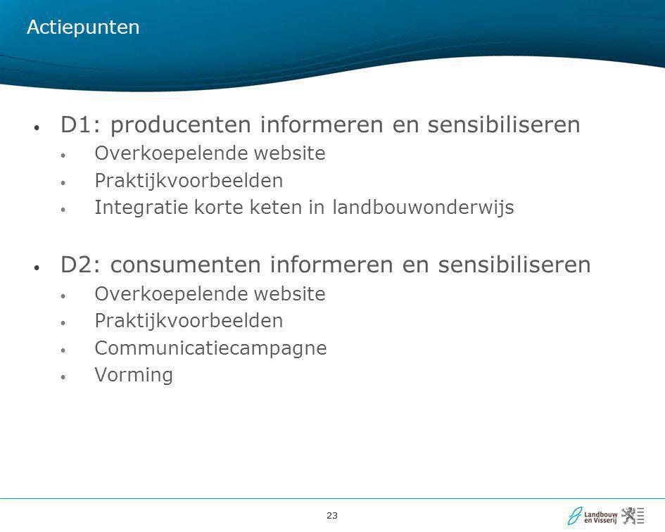 D1: producenten informeren en sensibiliseren