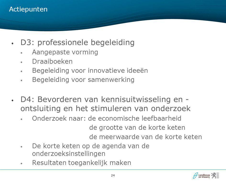 D3: professionele begeleiding