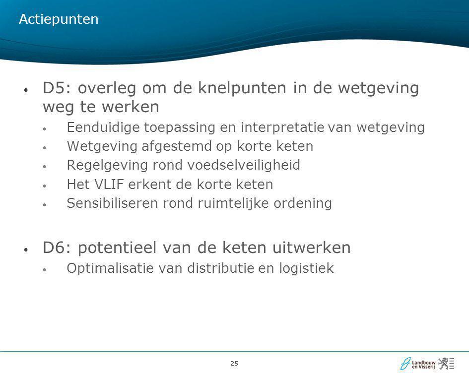 D5: overleg om de knelpunten in de wetgeving weg te werken