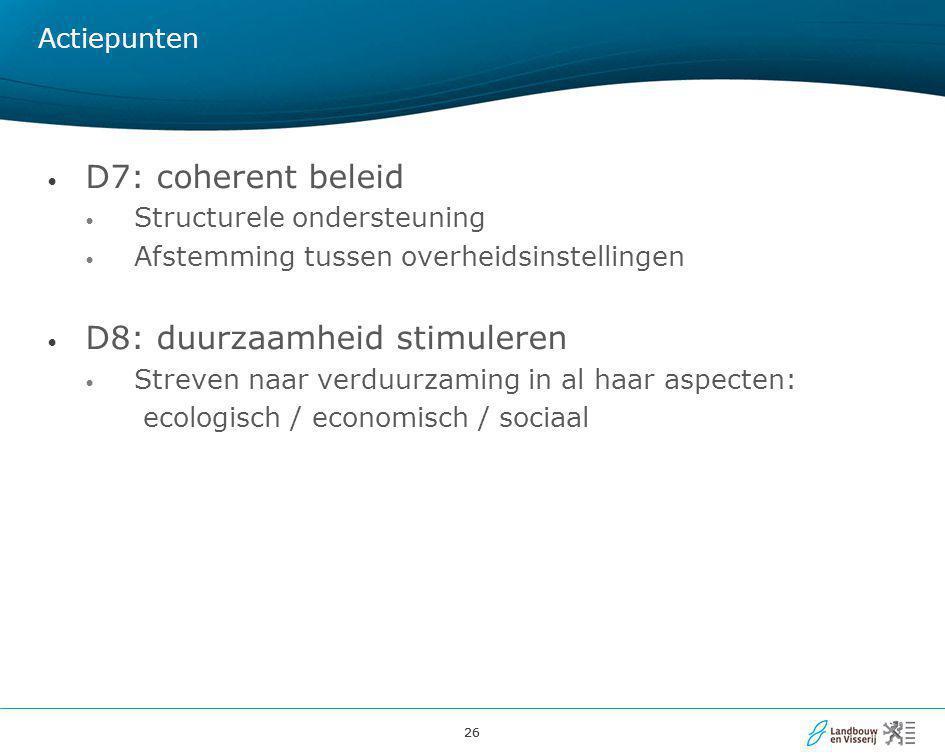 D8: duurzaamheid stimuleren