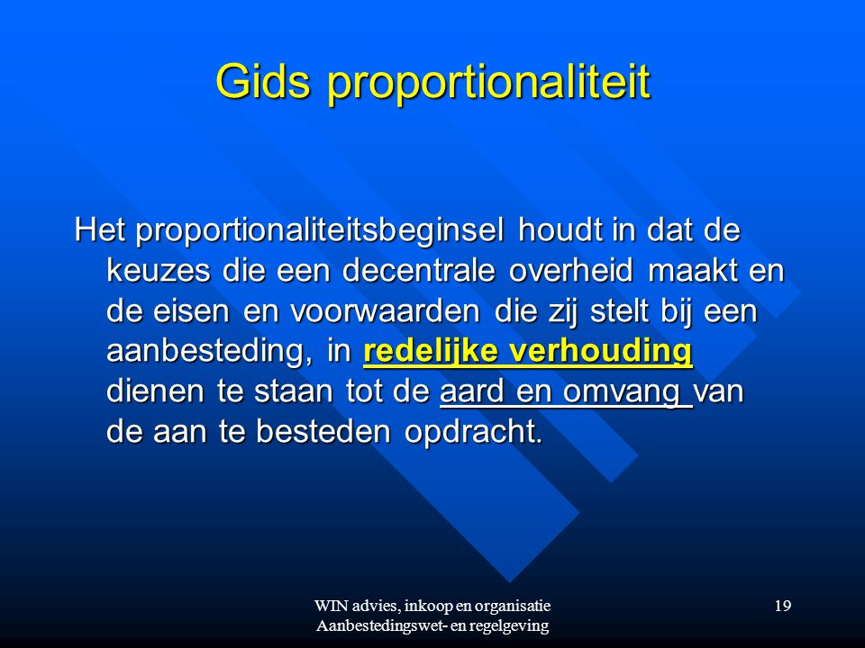 Gids proportionaliteit