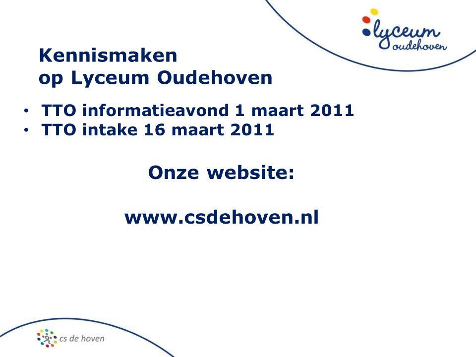 Onze website: www.csdehoven.nl