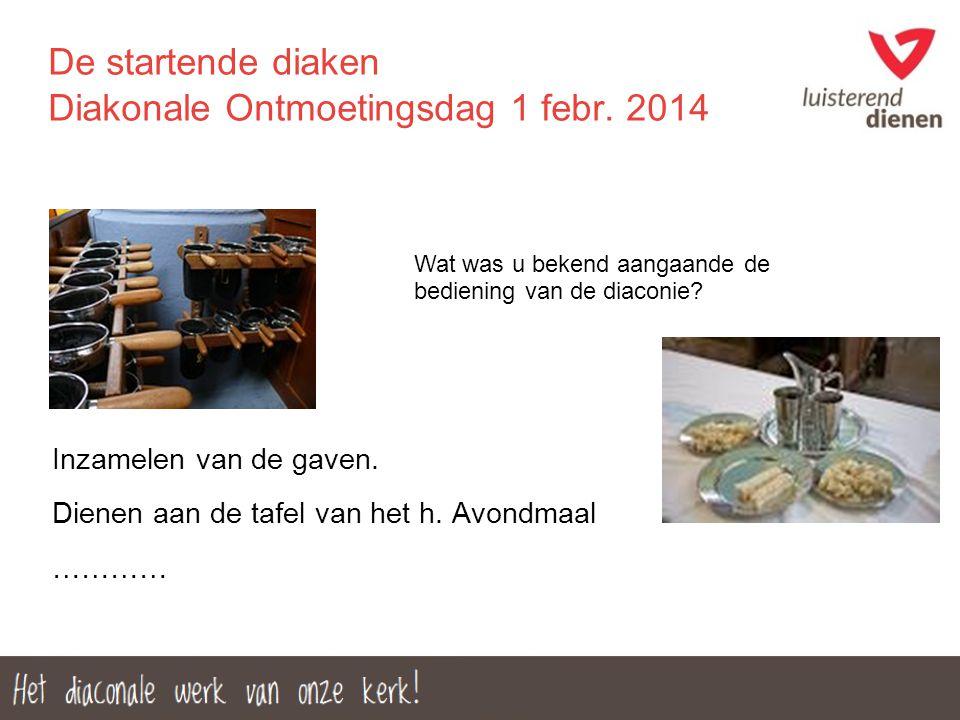 De startende diaken Diakonale Ontmoetingsdag 1 febr. 2014