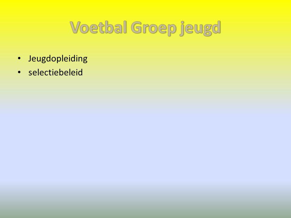 Voetbal Groep jeugd Jeugdopleiding selectiebeleid