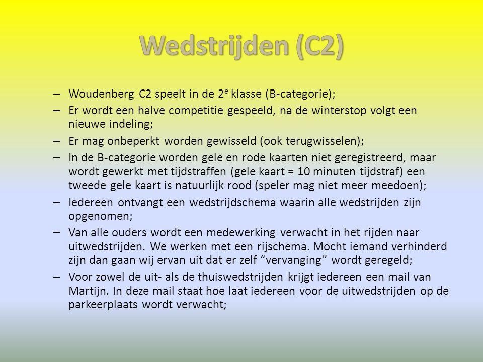 Wedstrijden (C2) Woudenberg C2 speelt in de 2e klasse (B-categorie);