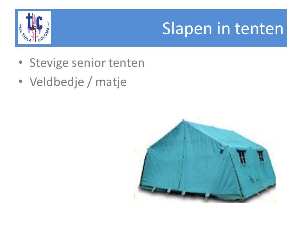 Slapen in tenten Stevige senior tenten Veldbedje / matje