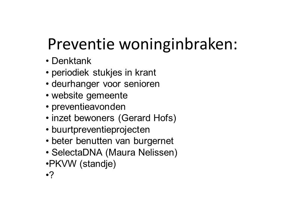 Preventie woninginbraken: