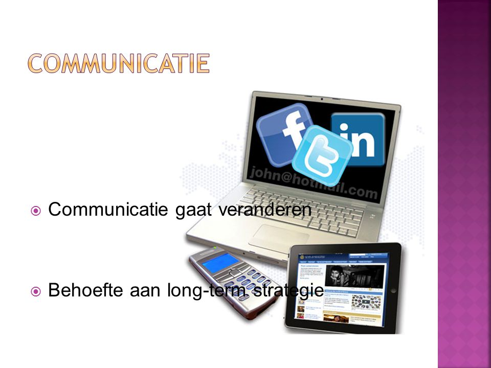 ComMunicatie Communicatie gaat veranderen