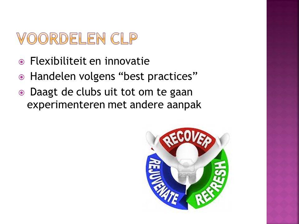 VOORDELEN CLP Flexibiliteit en innovatie