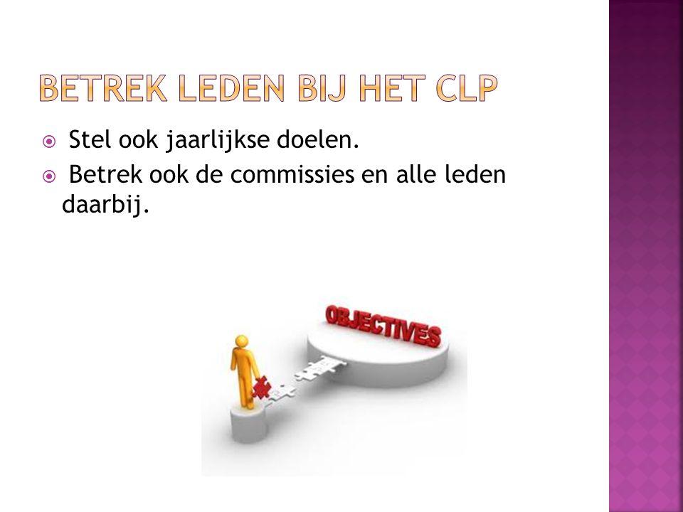 Betrek leden bij het CLP