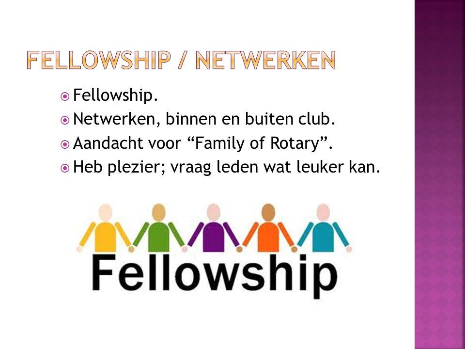 FELLOWSHIP / NETWERKEN