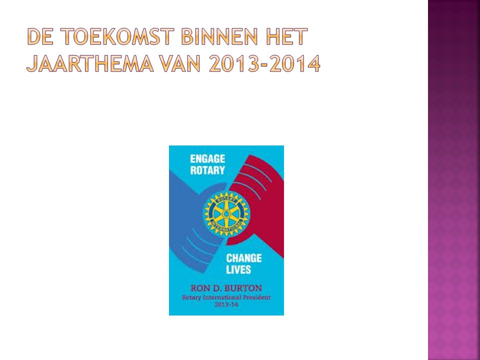 DE TOEKOMST BINNEN HET JAARTHEMA VAN 2013-2014