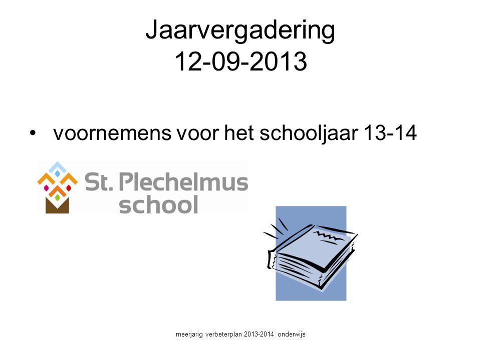 meerjarig verbeterplan 2013-2014 onderwijs
