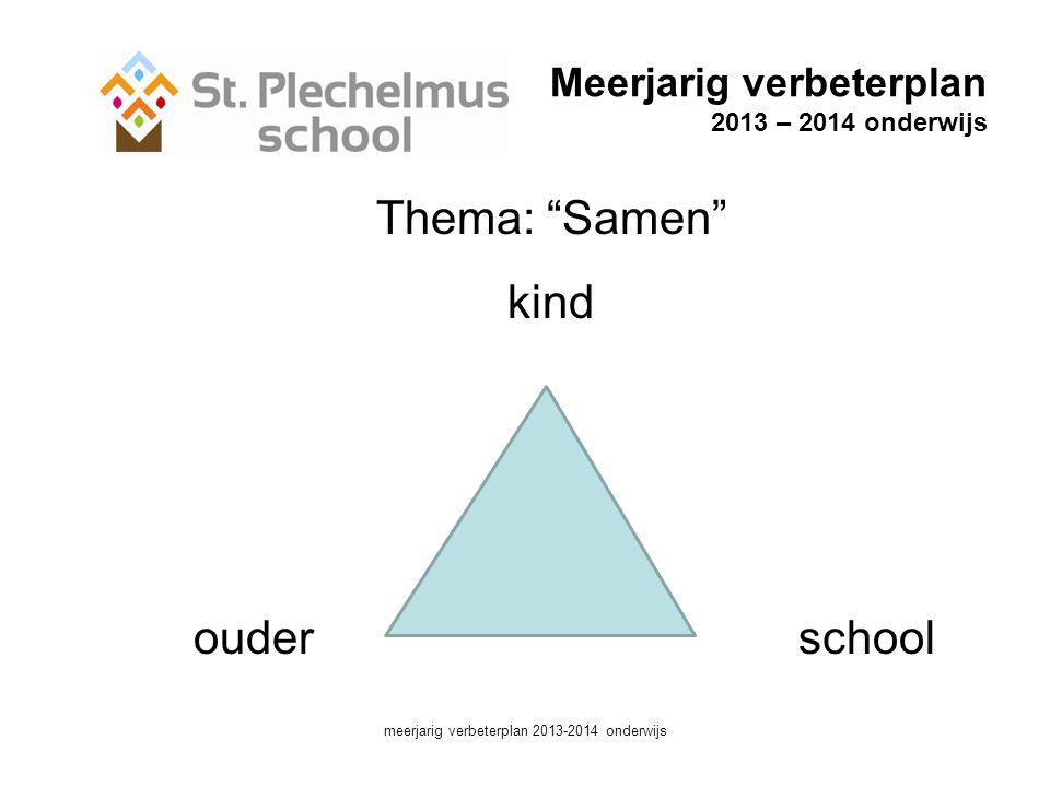 Meerjarig verbeterplan 2013 – 2014 onderwijs