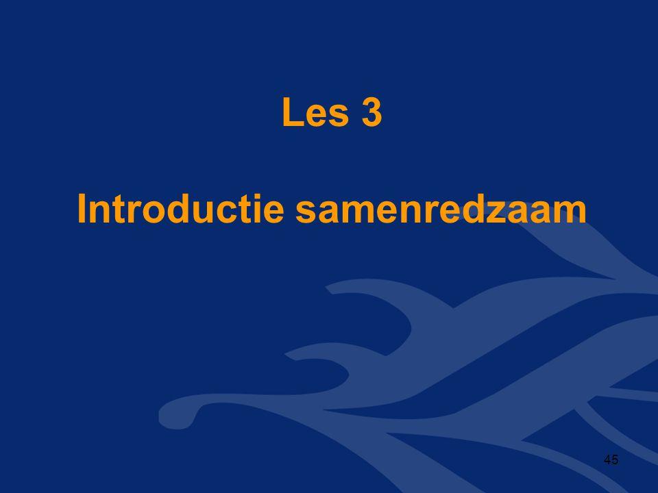 Les 3 Introductie samenredzaam