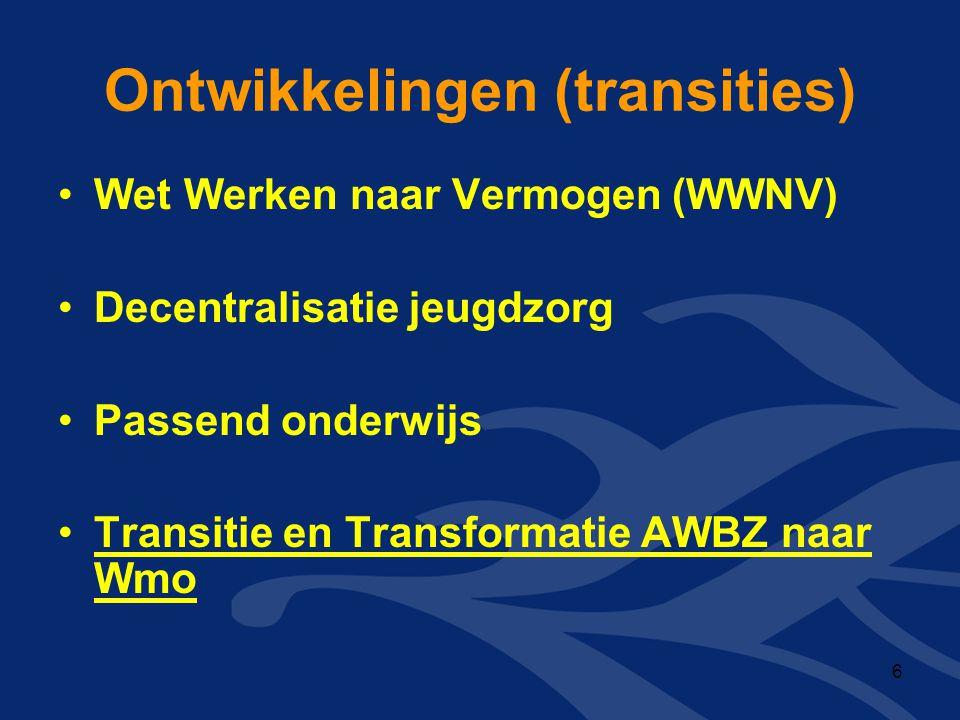 Ontwikkelingen (transities)