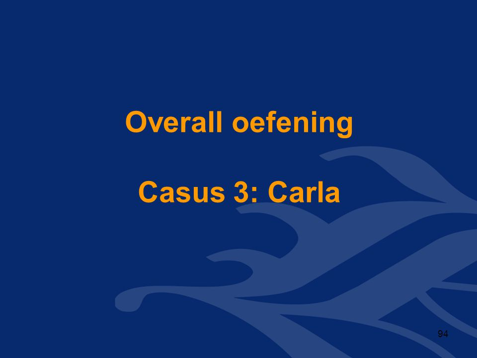 Overall oefening Casus 3: Carla
