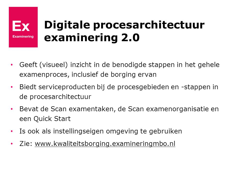 Digitale procesarchitectuur examinering 2.0