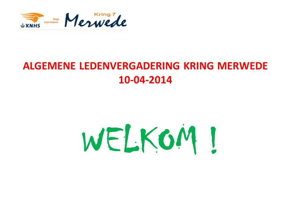 ALGEMENE LEDENVERGADERING KRING MERWEDE 10-04-2014