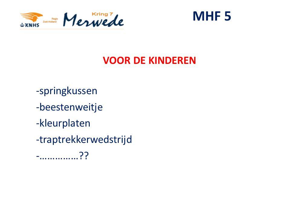 MHF 5 VOOR DE KINDEREN -springkussen -beestenweitje -kleurplaten