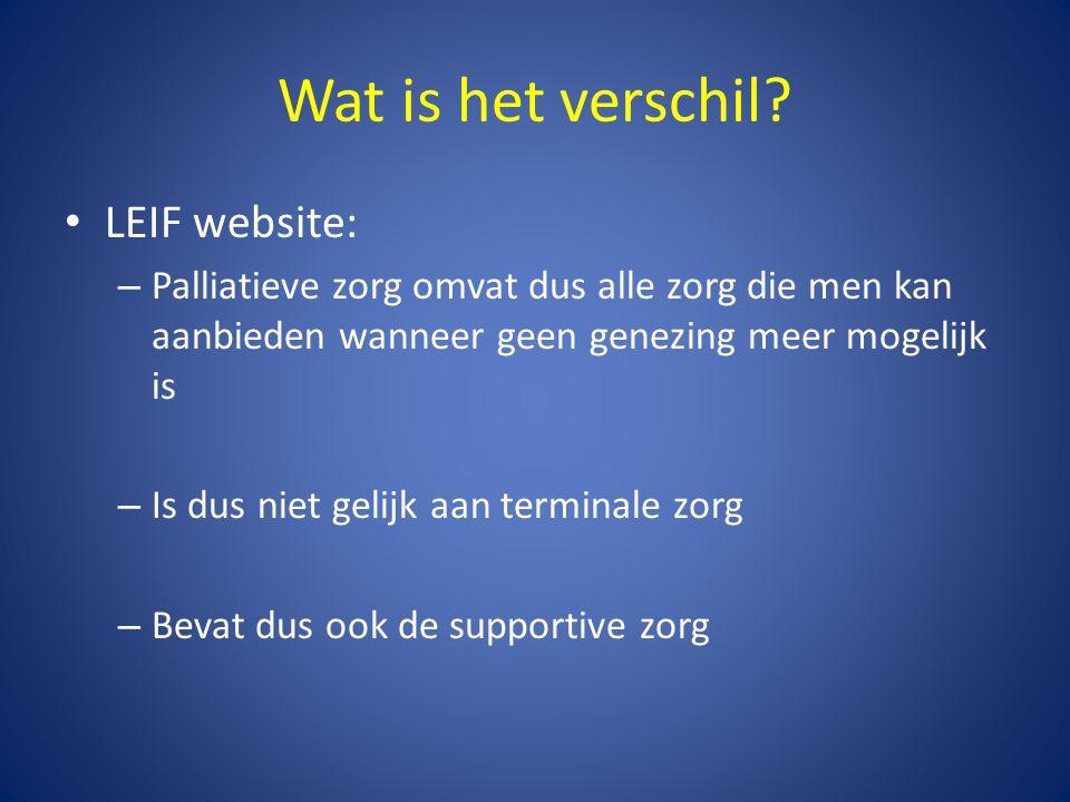 Wat is het verschil LEIF website: