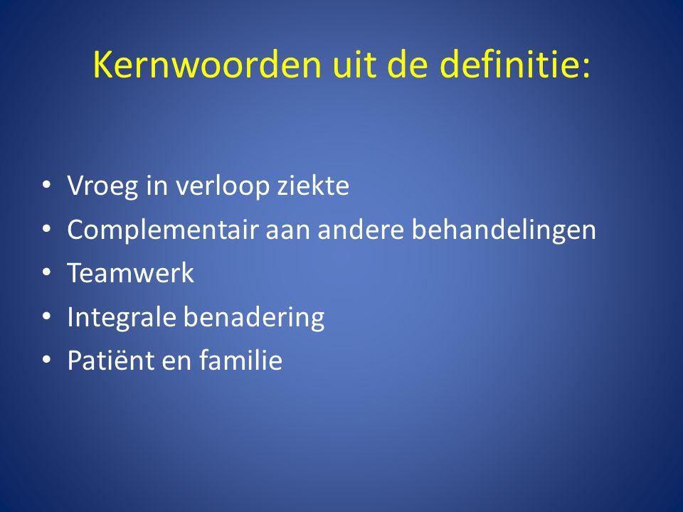 Kernwoorden uit de definitie:
