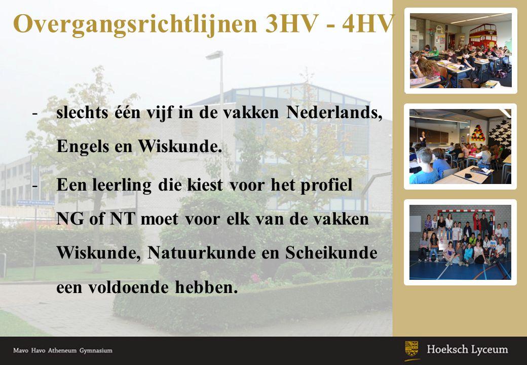 Overgangsrichtlijnen 3HV - 4HV