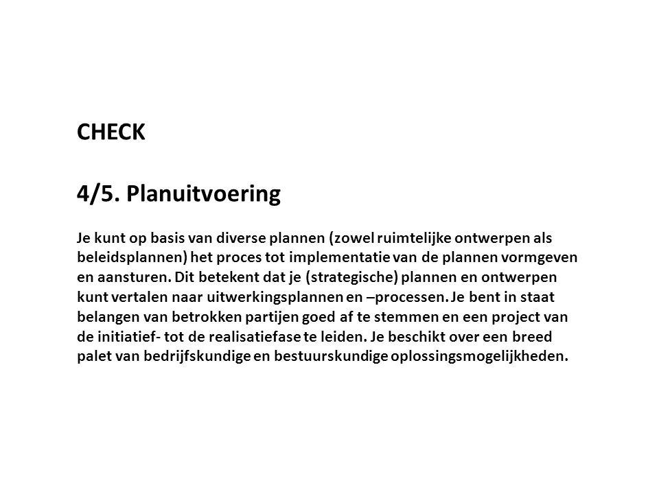 CHECK 4/5. Planuitvoering