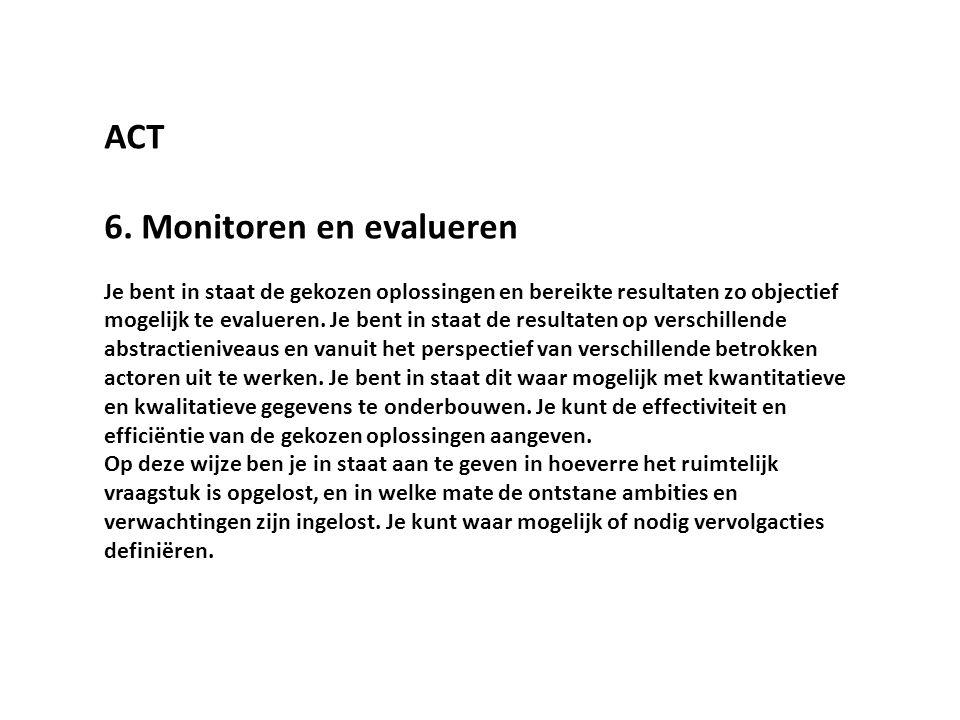 6. Monitoren en evalueren