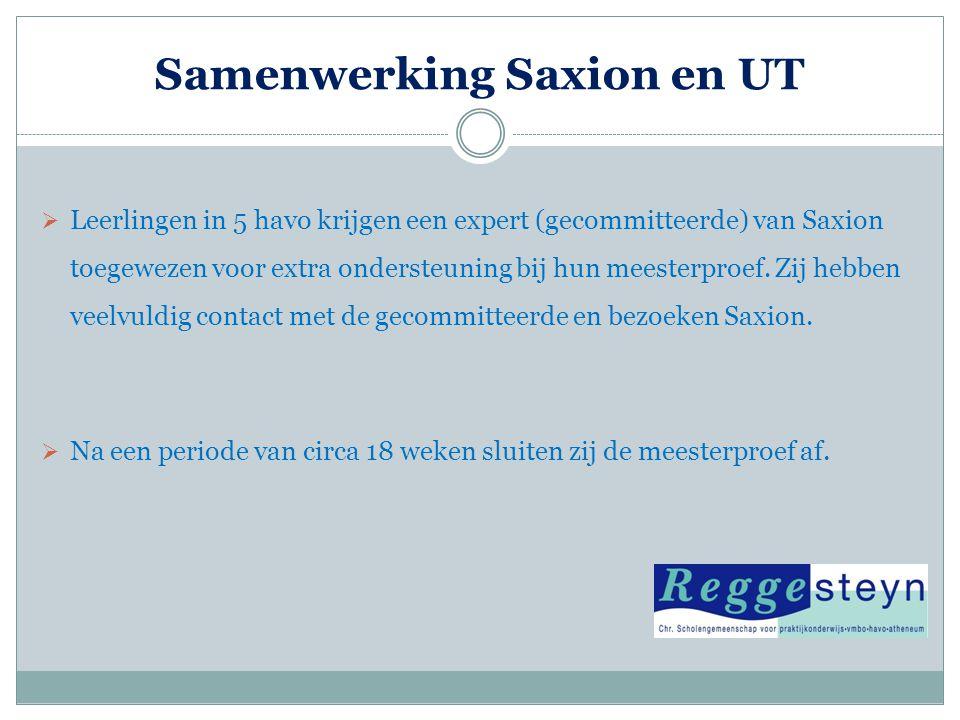 Samenwerking Saxion en UT
