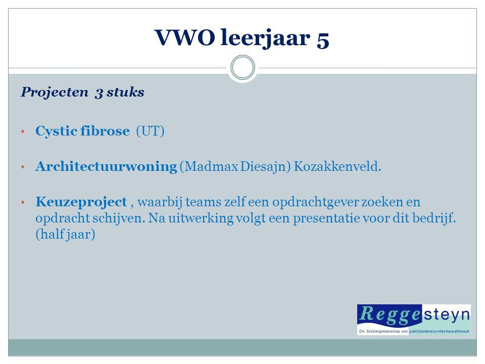 VWO leerjaar 5 Projecten 3 stuks Cystic fibrose (UT)