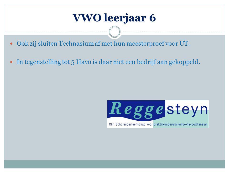 VWO leerjaar 6 Ook zij sluiten Technasium af met hun meesterproef voor UT.