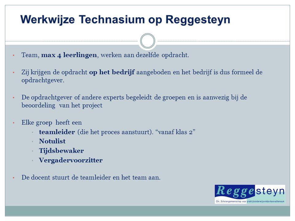 Werkwijze Technasium op Reggesteyn