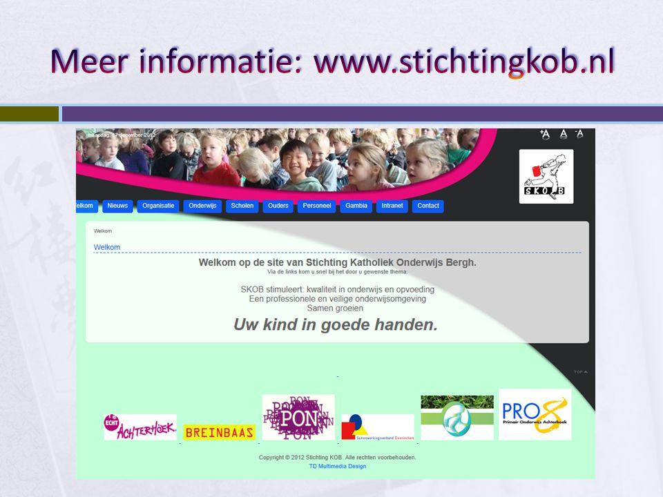 Meer informatie: www.stichtingkob.nl