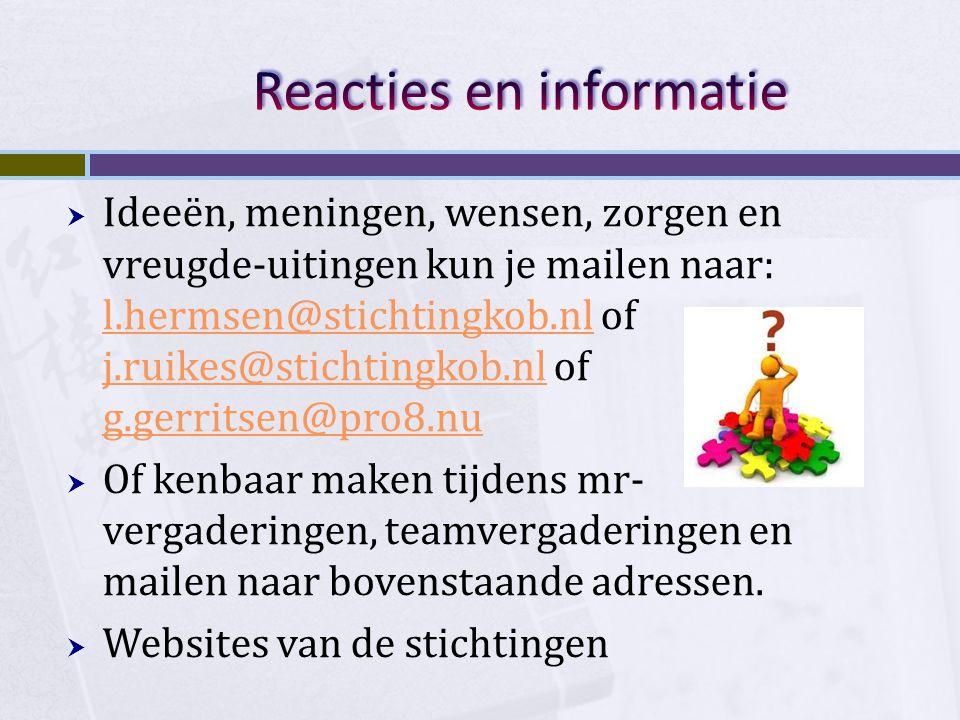 Reacties en informatie