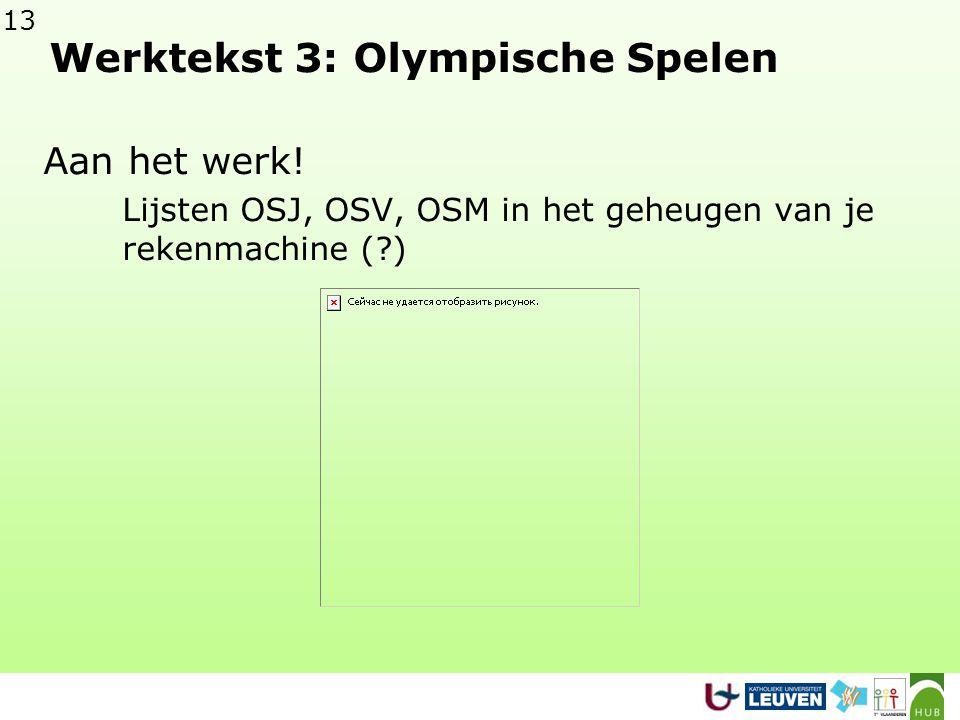 Werktekst 3: Olympische Spelen