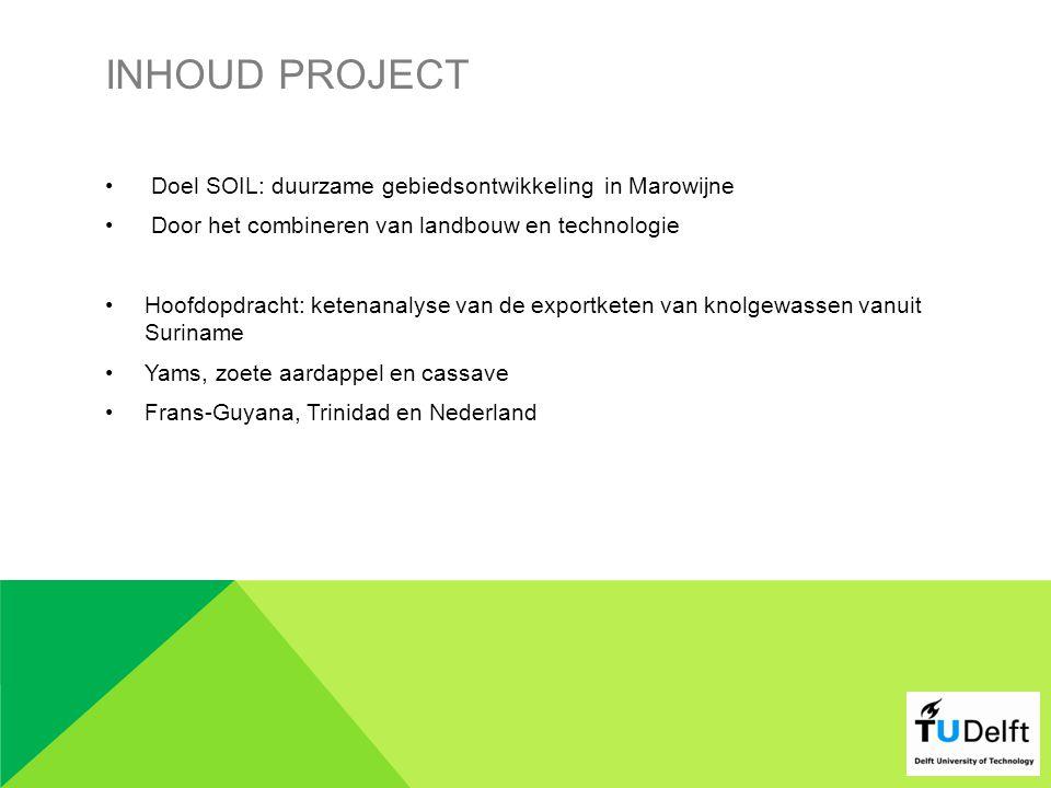 Inhoud project Doel SOIL: duurzame gebiedsontwikkeling in Marowijne