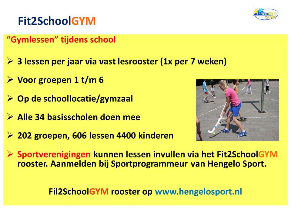 Fil2SchoolGYM rooster op www.hengelosport.nl
