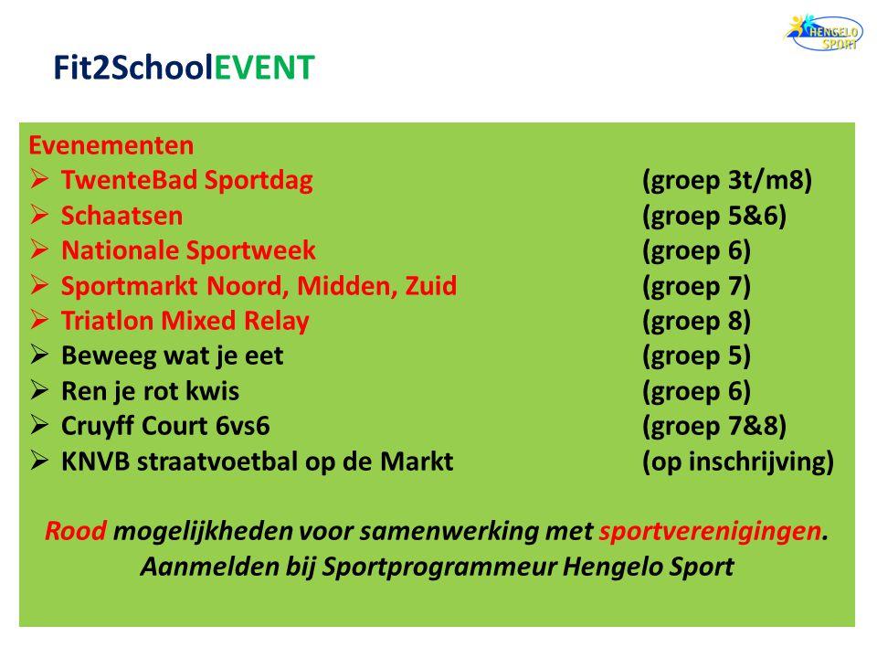Fit2SchoolEVENT Evenementen TwenteBad Sportdag (groep 3t/m8)