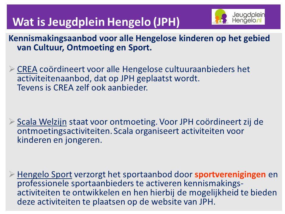 Wat is Jeugdplein Hengelo (JPH)