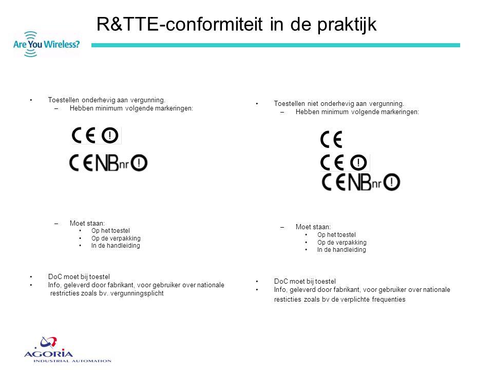 R&TTE-conformiteit in de praktijk