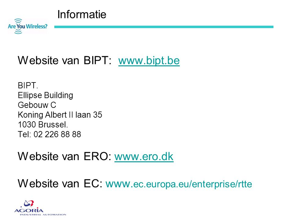 Website van BIPT: www.bipt.be