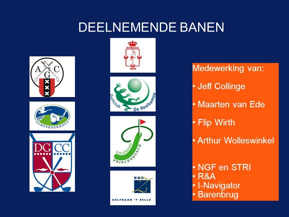 DEELNEMENDE BANEN Medewerking van: Jeff Collinge Maarten van Ede