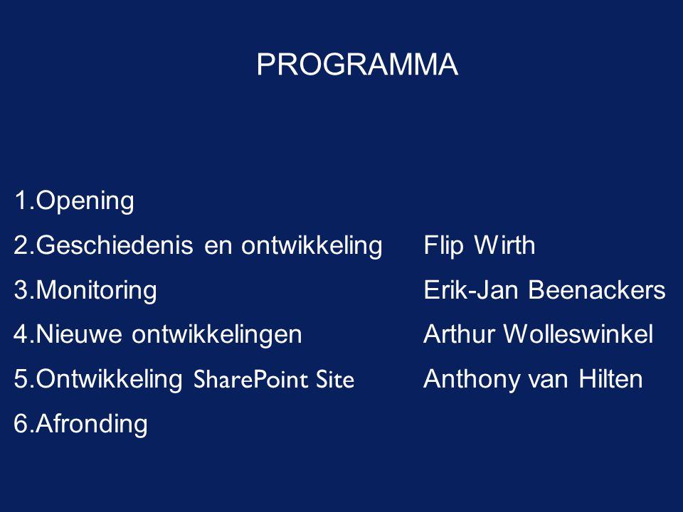 PROGRAMMA Opening Geschiedenis en ontwikkeling Flip Wirth