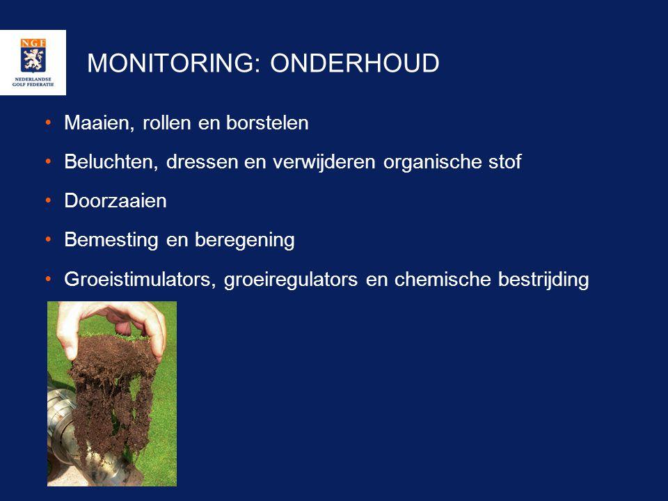 MONITORING: ONDERHOUD