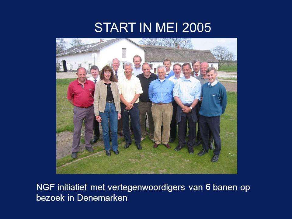 START IN MEI 2005 NGF initiatief met vertegenwoordigers van 6 banen op bezoek in Denemarken